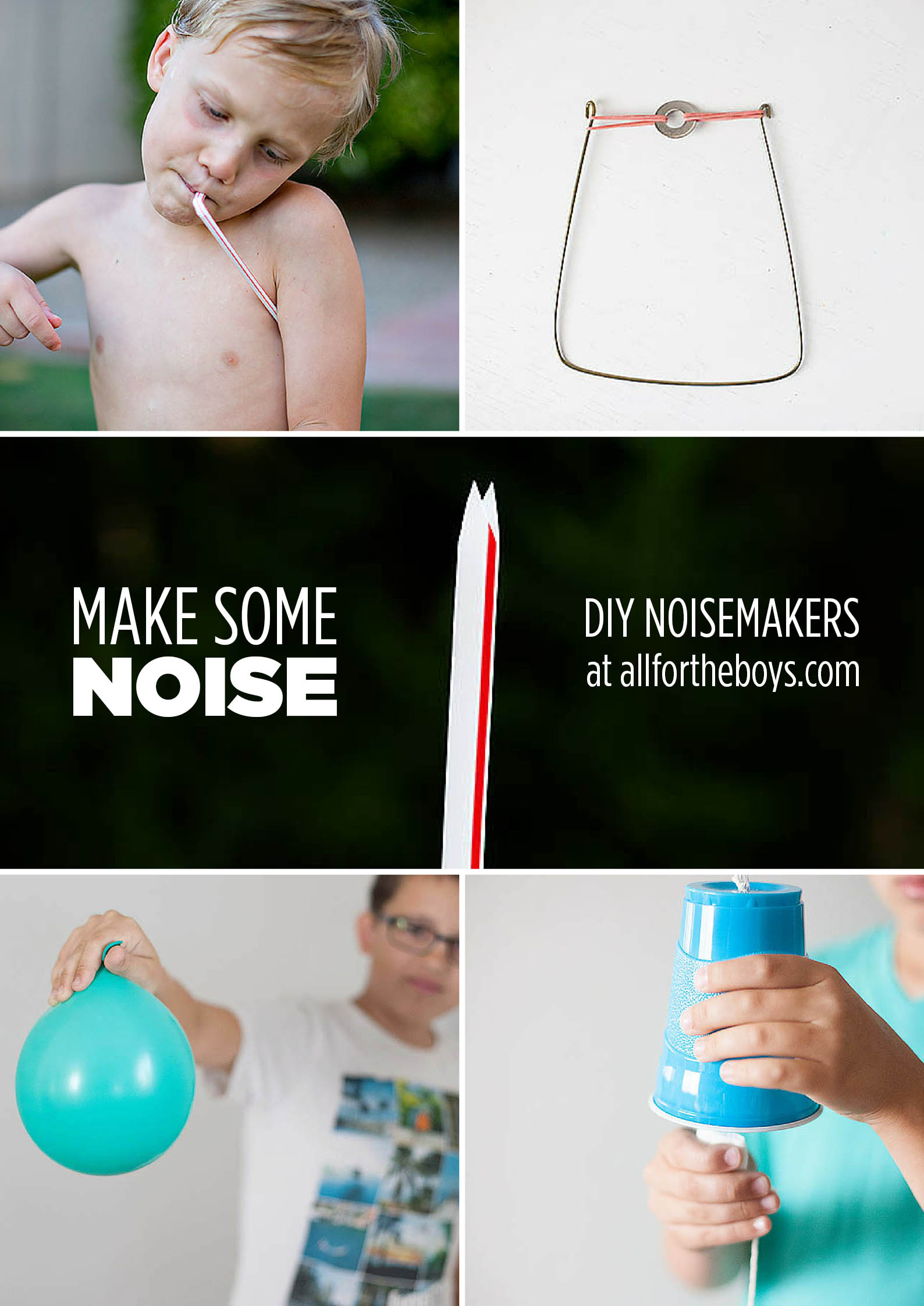 DIY noisemakers you can make at home - from allfortheboys.com