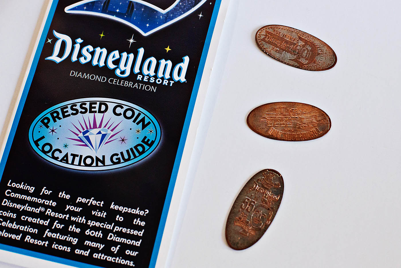 Disneyland Diamond Celebration Pressed Coins