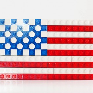 LEGO challenge - build a flag