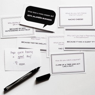 New lunchbox joke notes + family faves
