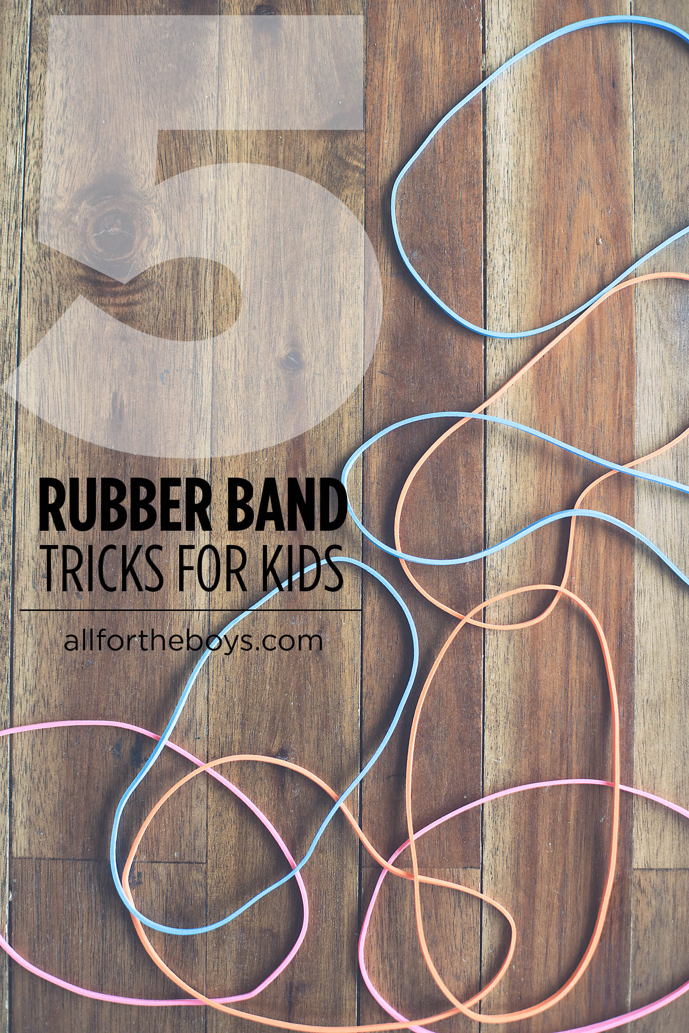 5 easy magic tricks to do with rubber bands