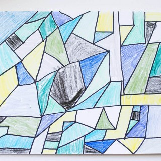 Easy Abstract Art - great idea for older kids too!
