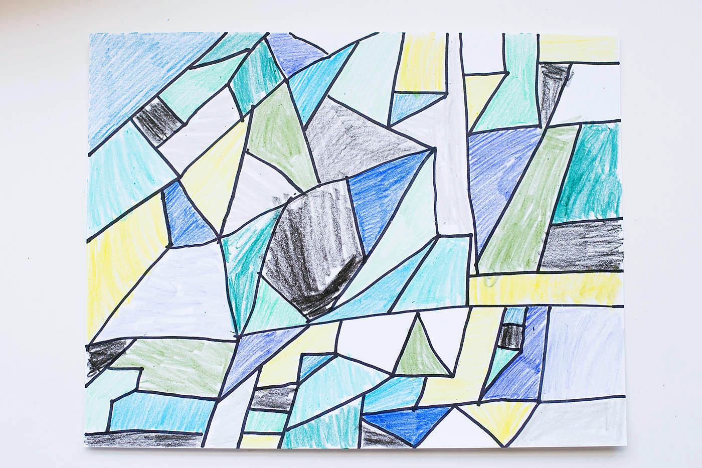 Easy Abstract Art — All for the Boys