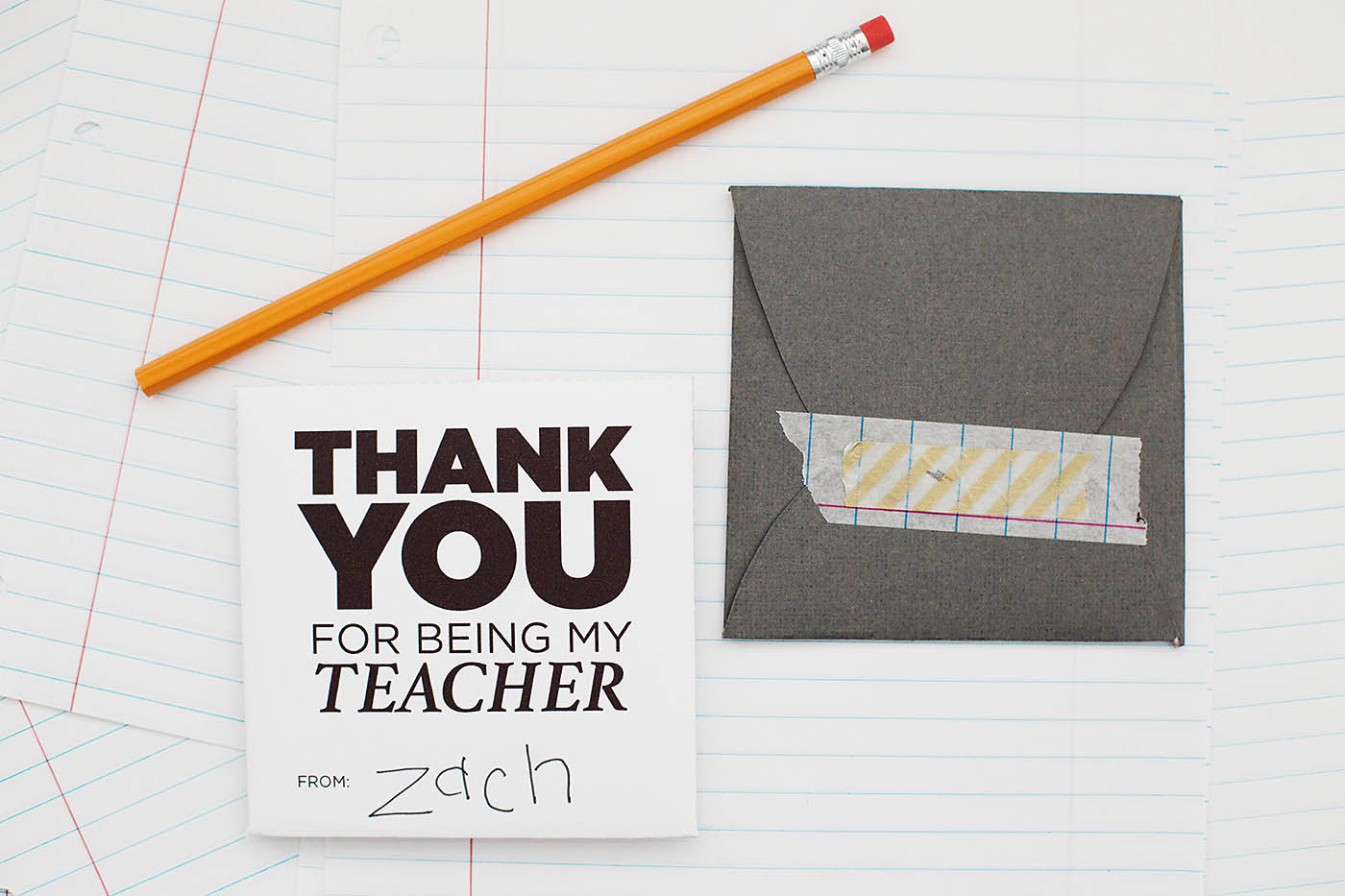 Back-to-school printable envelopes for teacher gift cards