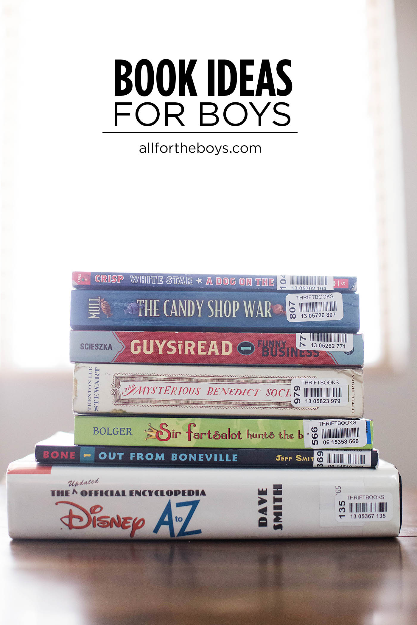 Book ideas for boys and where to buy them for cheap!
