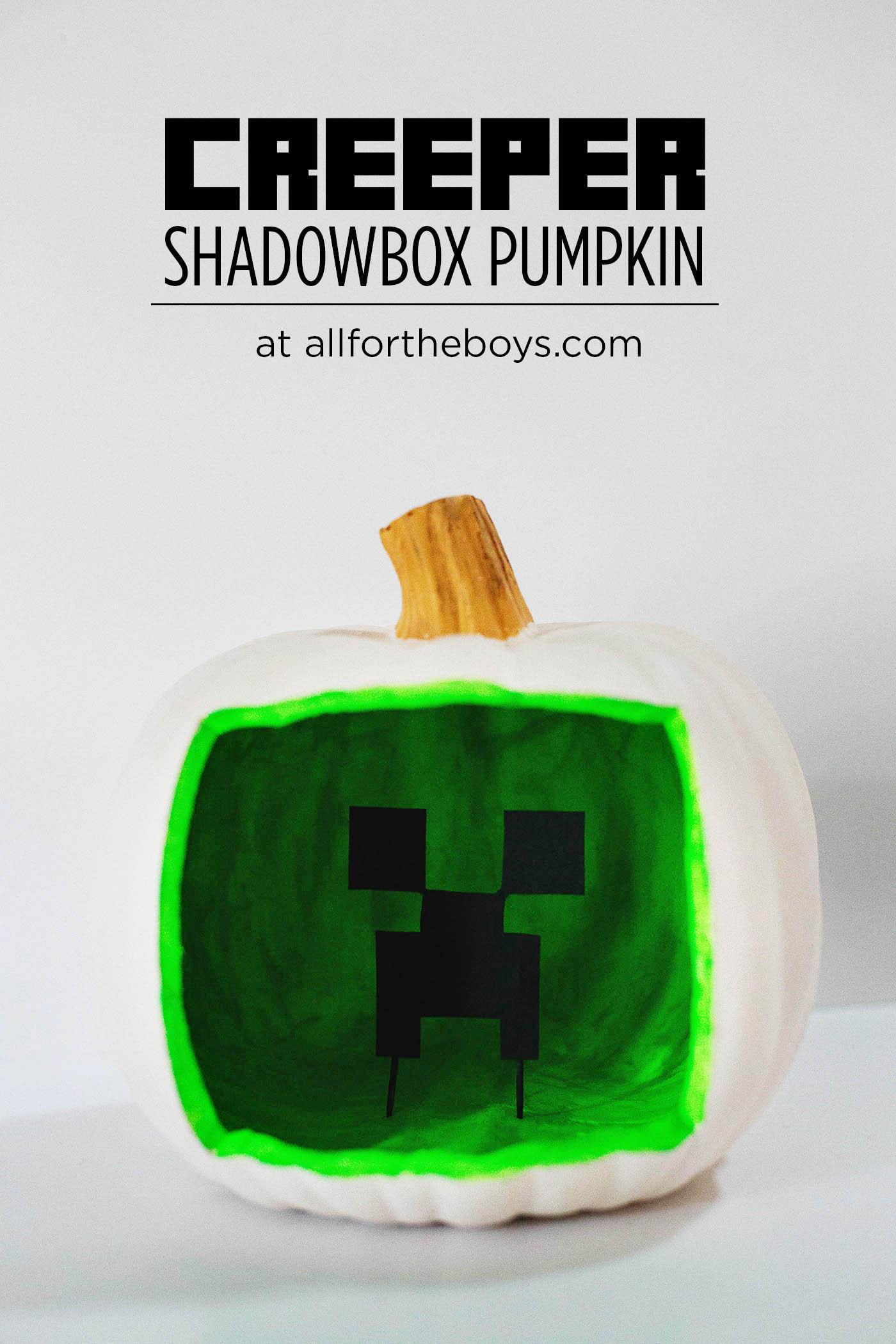 Halloween Kurbis Mit Minecraft Motiv Von Hand Zu Hand Bloglovin