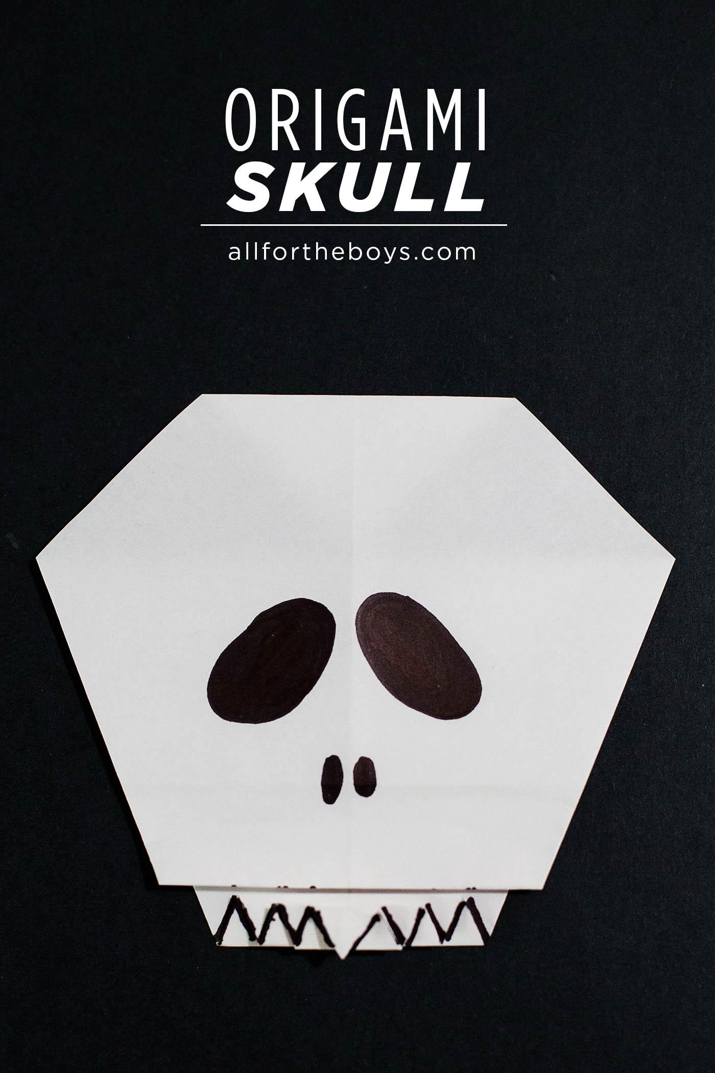 Easy origami skull