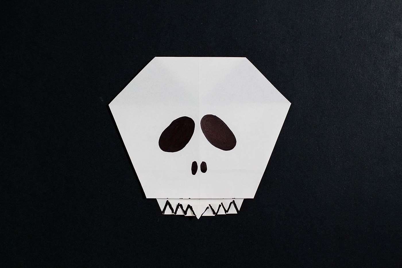 easy origami skull � all for the boys