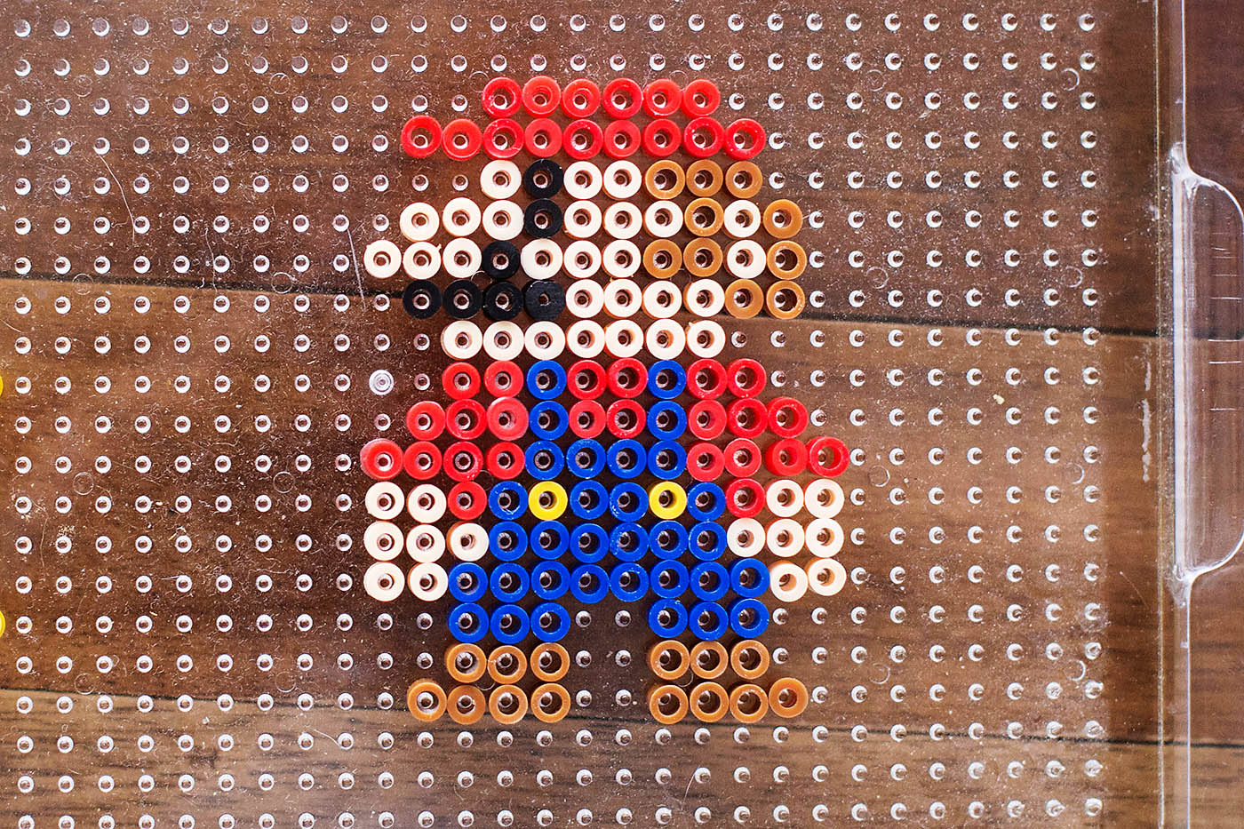Stand Up Perler Bead Characters with Mario — All for the Boys