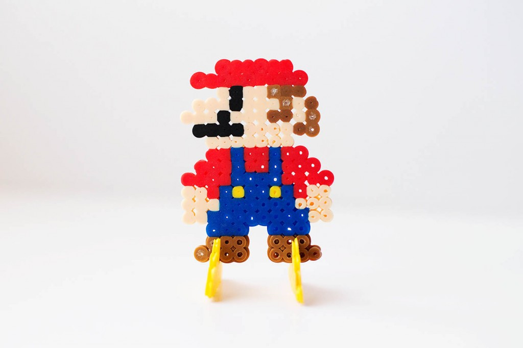 Stand Up Perler Bead Characters with Mario