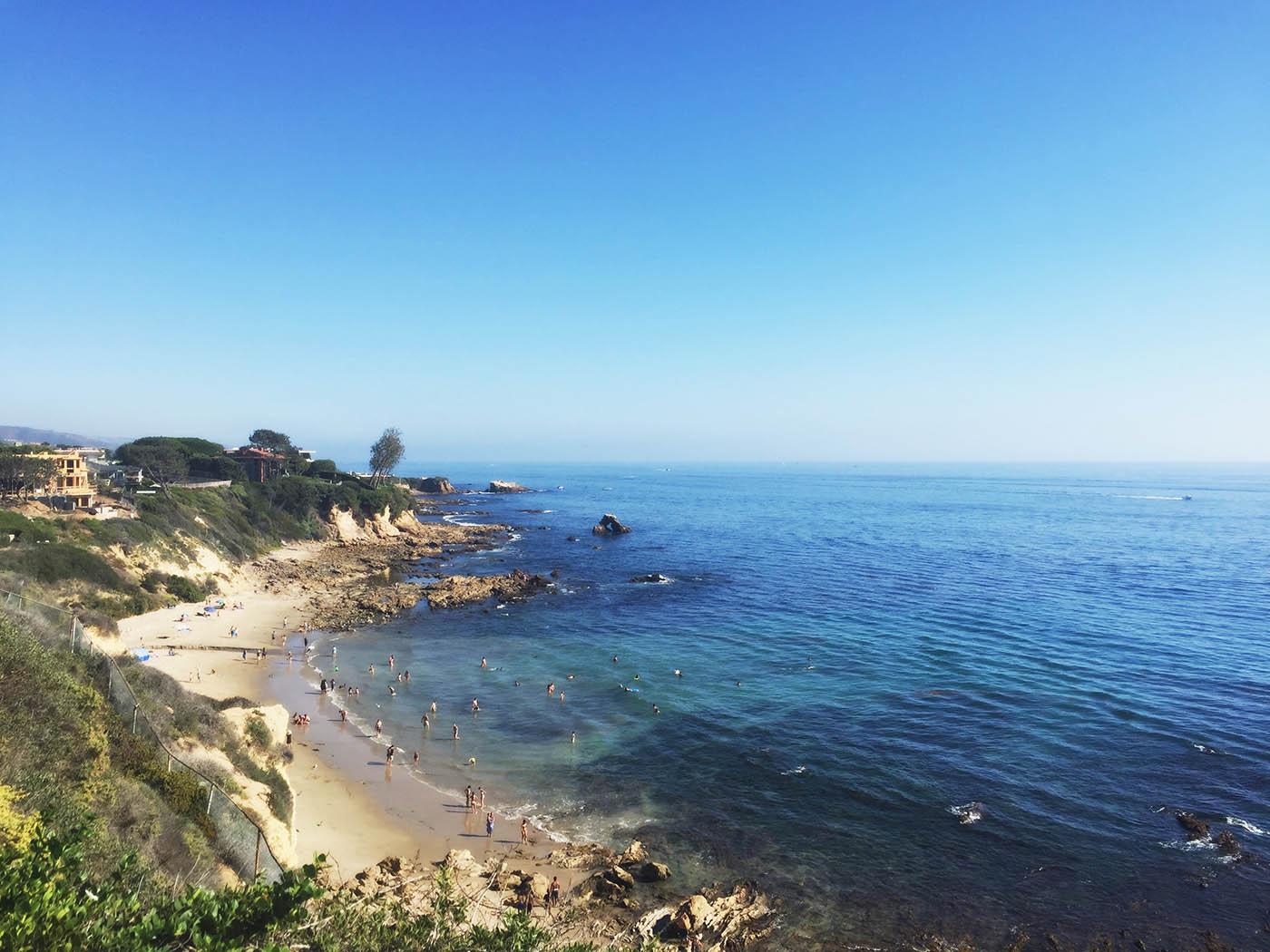 Tide pools at Little Corona Del Mar in southern California
