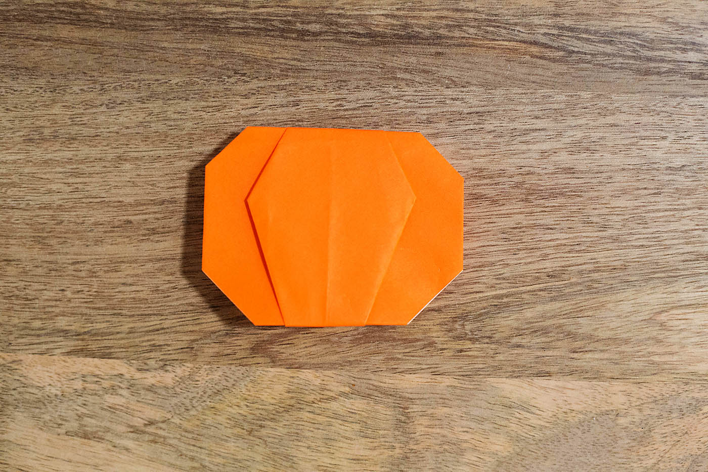 Easy origami pumpkin or jack o lantern