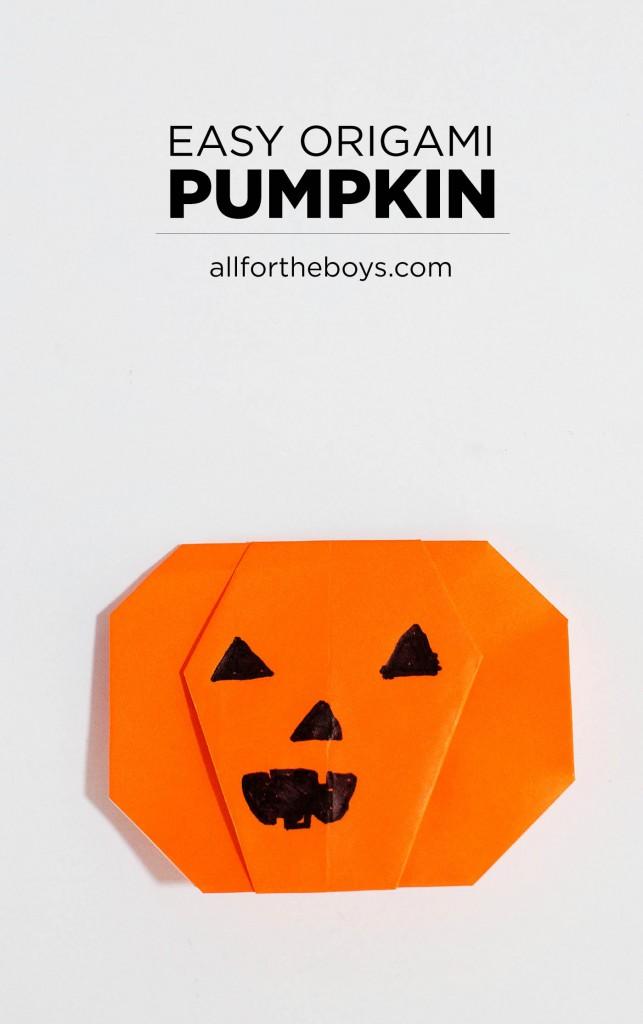 Aftb Origami Pumpkin 24 All For The Boys