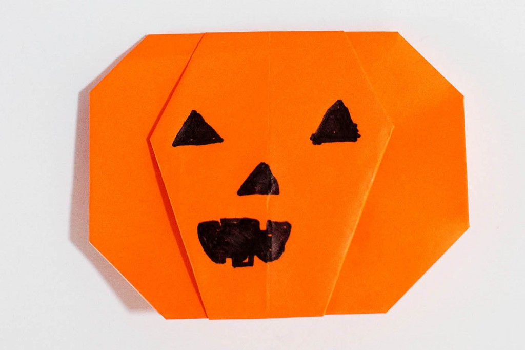 Easy Pumpkin Origami