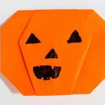 Easy origami pumpkin or jack o lantern