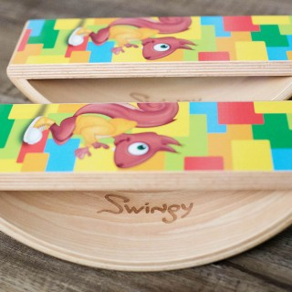 Wooden Balance Boards + Digital Game = Swingy