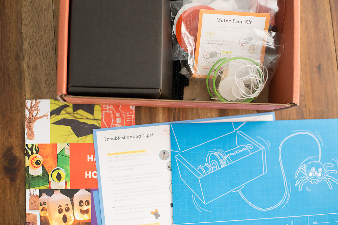 Tinker Crate and FamilyFun spider prank kit!