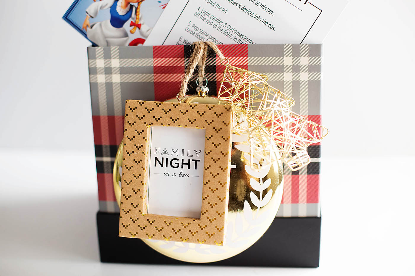 Fun family night gift box idea with free printables!