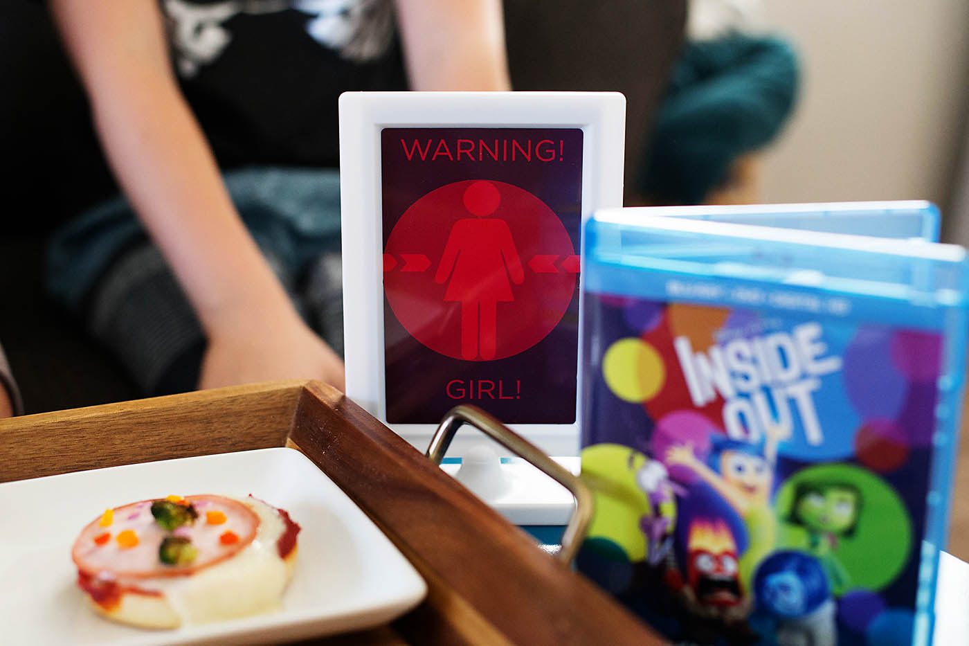 Inside Out Movie night with a memory ball pizza bar, I LAVA You printables for dessert and a DIY marquee sign!