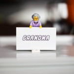 LEGO minifigure place card holders!