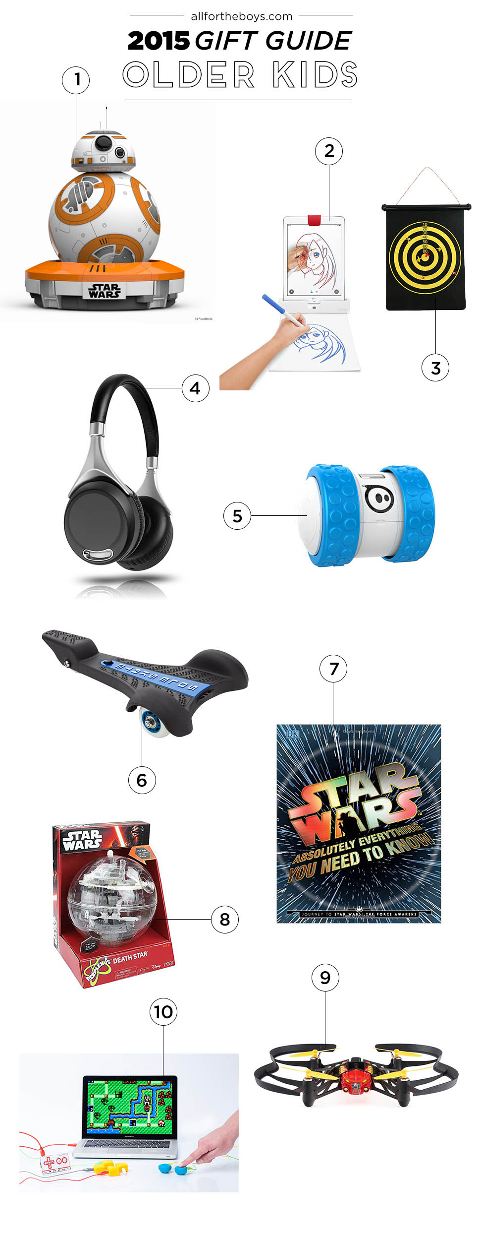 A gift guide for older kids - maybe 8 to teen? Great general ideas!