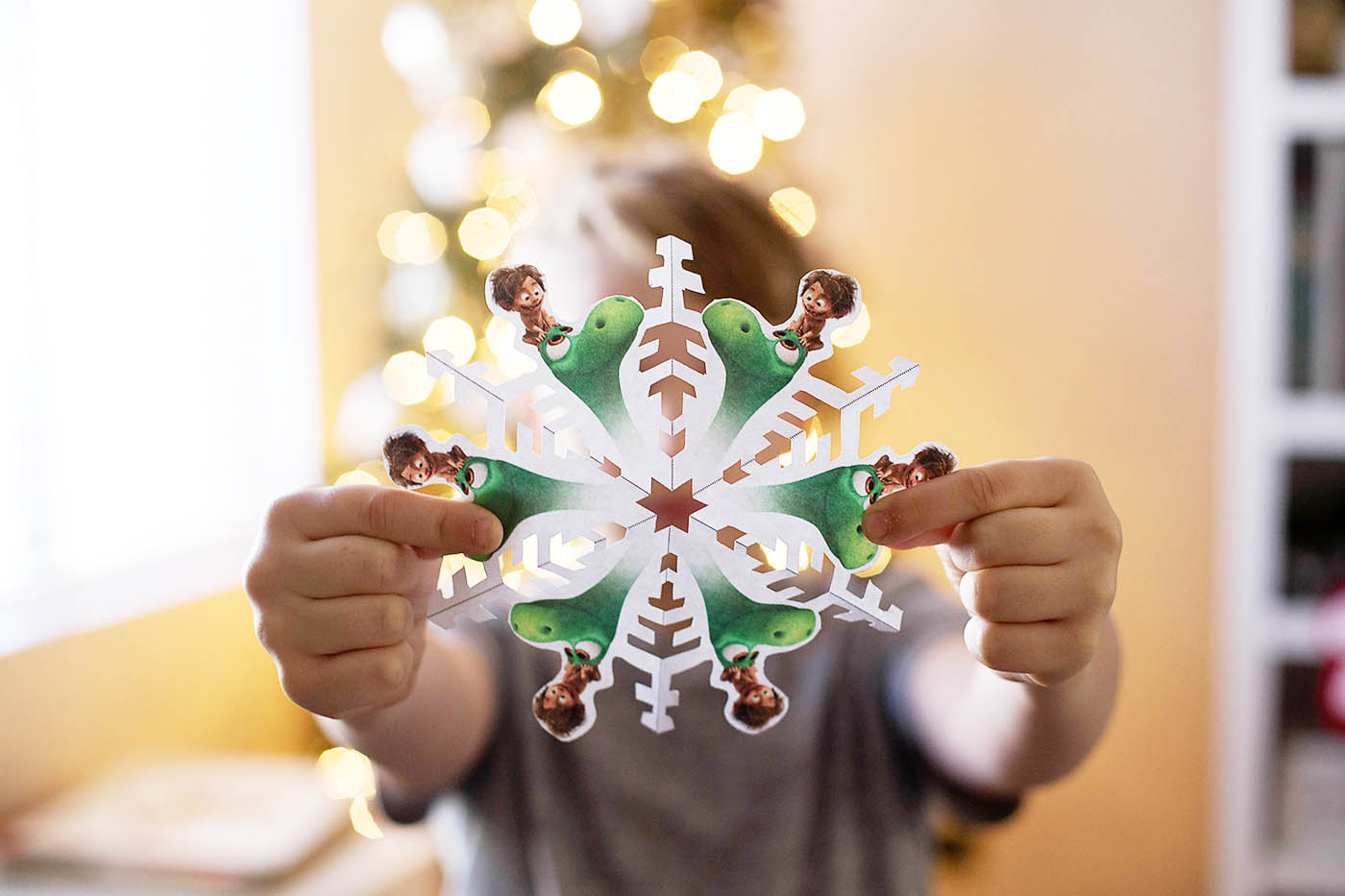 The Good Dinosaur printable snowflake