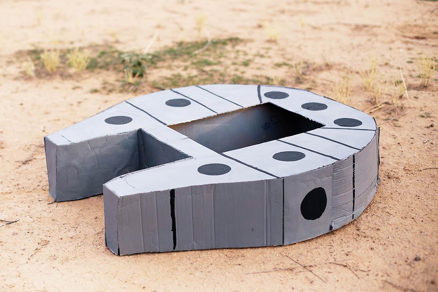 DIY cardboard Star Wars Millennium Falcon