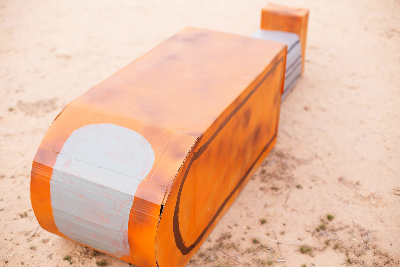 DIY cardboard Star Wars Rey's Speeder