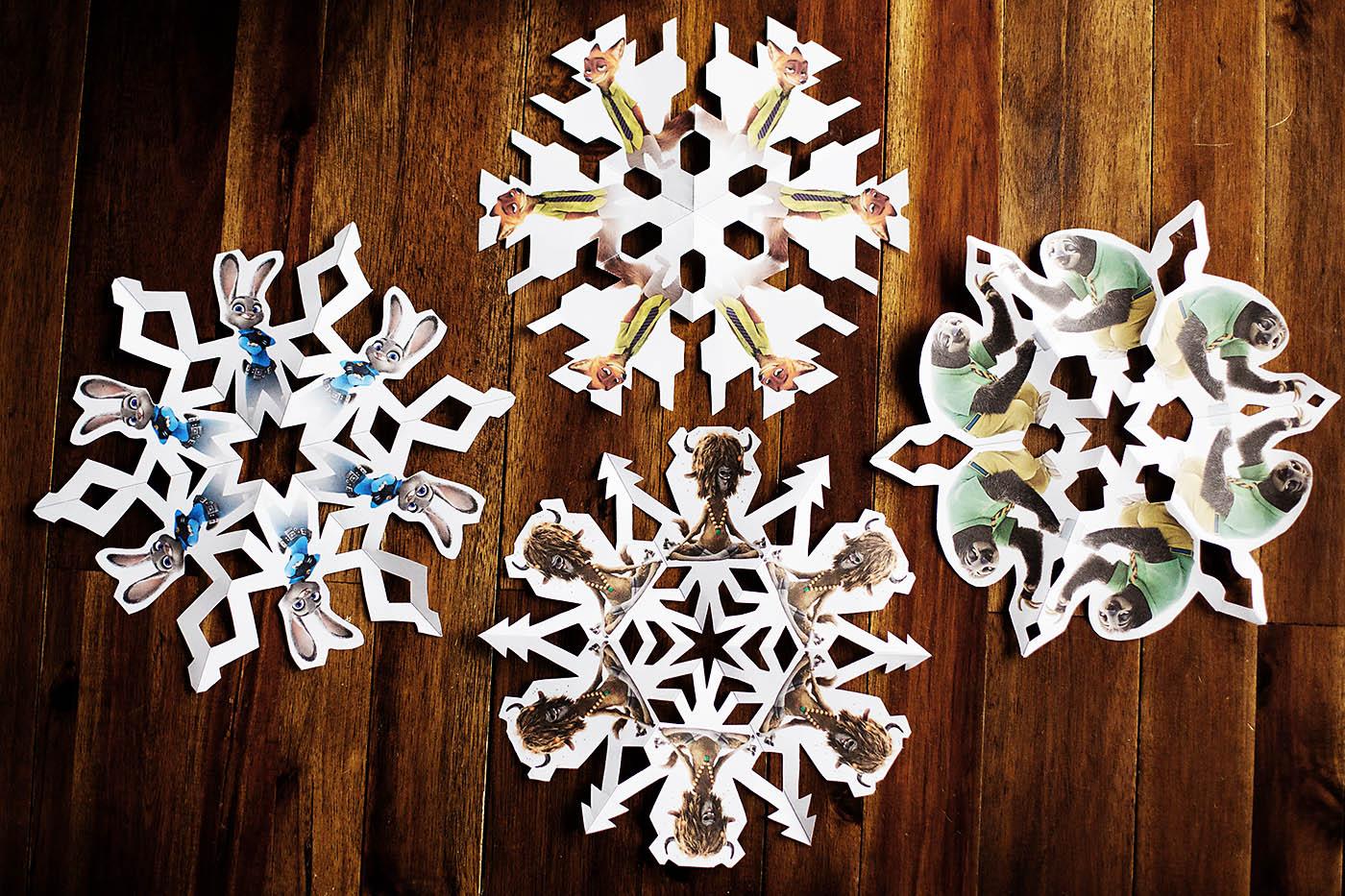 Zootopia Snowflakes — All for the Boys