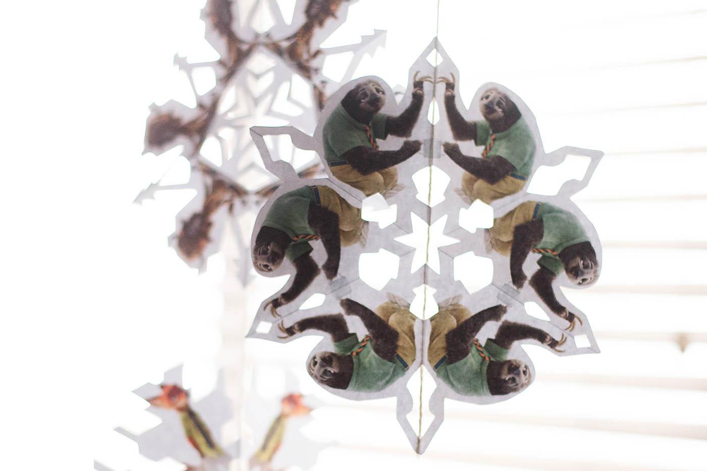Free printable Zootopia Snowflakes