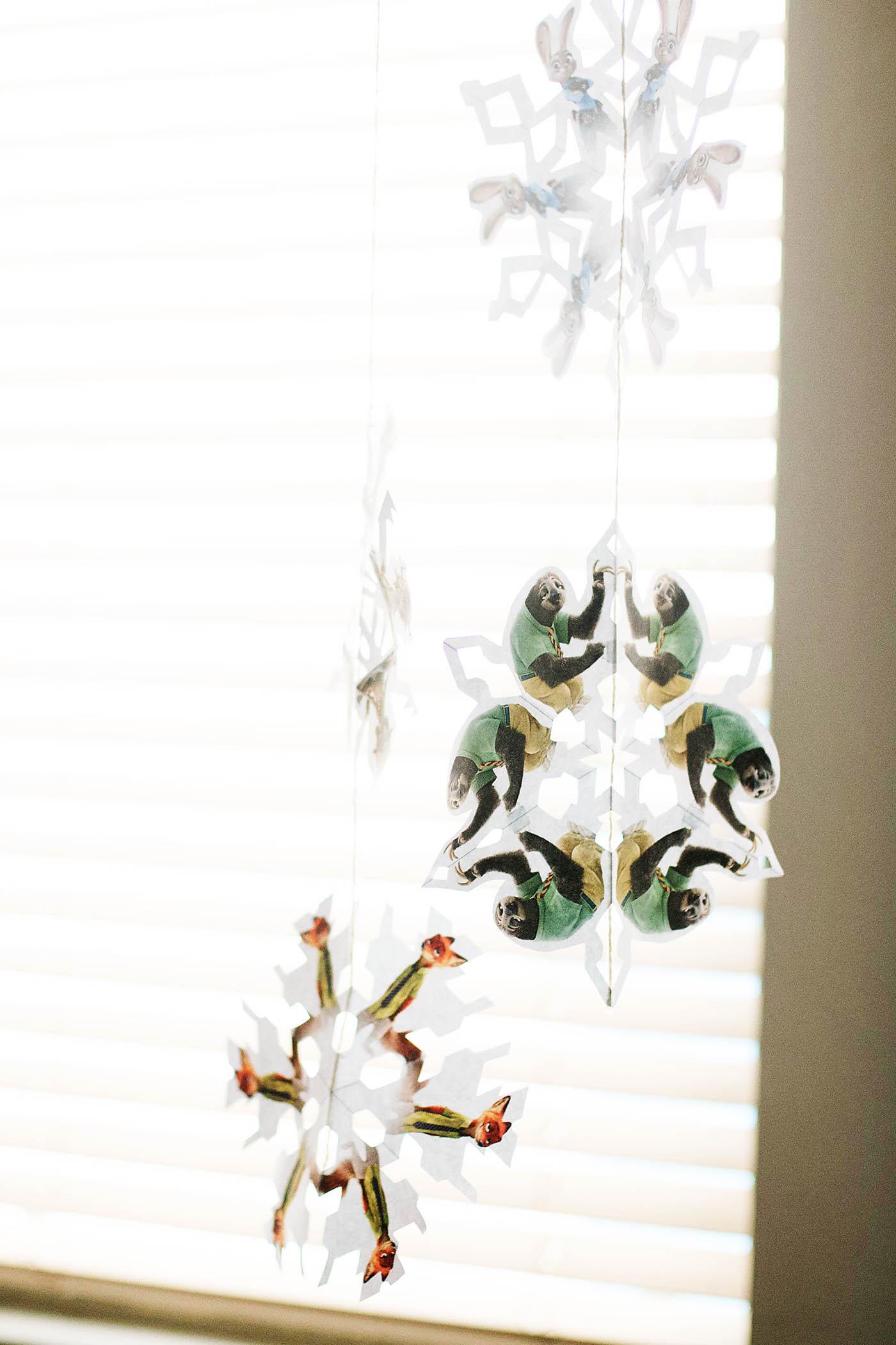 Printable Zootopia snowflakes