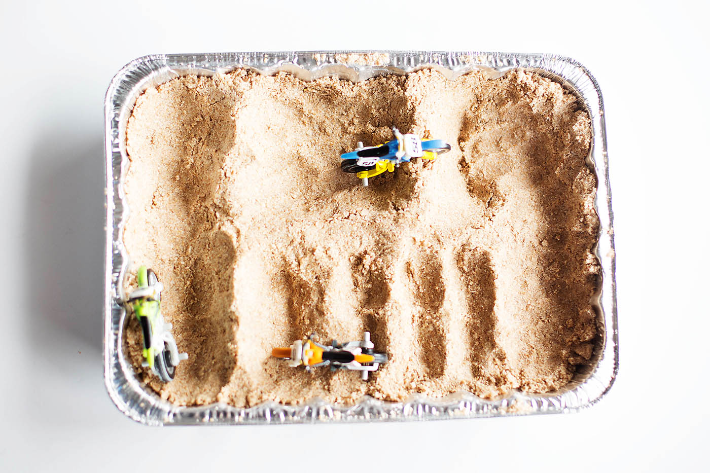 Diy Sand For A Toy Motocross Track All For The Boys