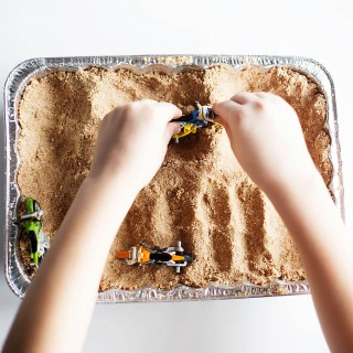DIY Sand for a Toy Motocross Track