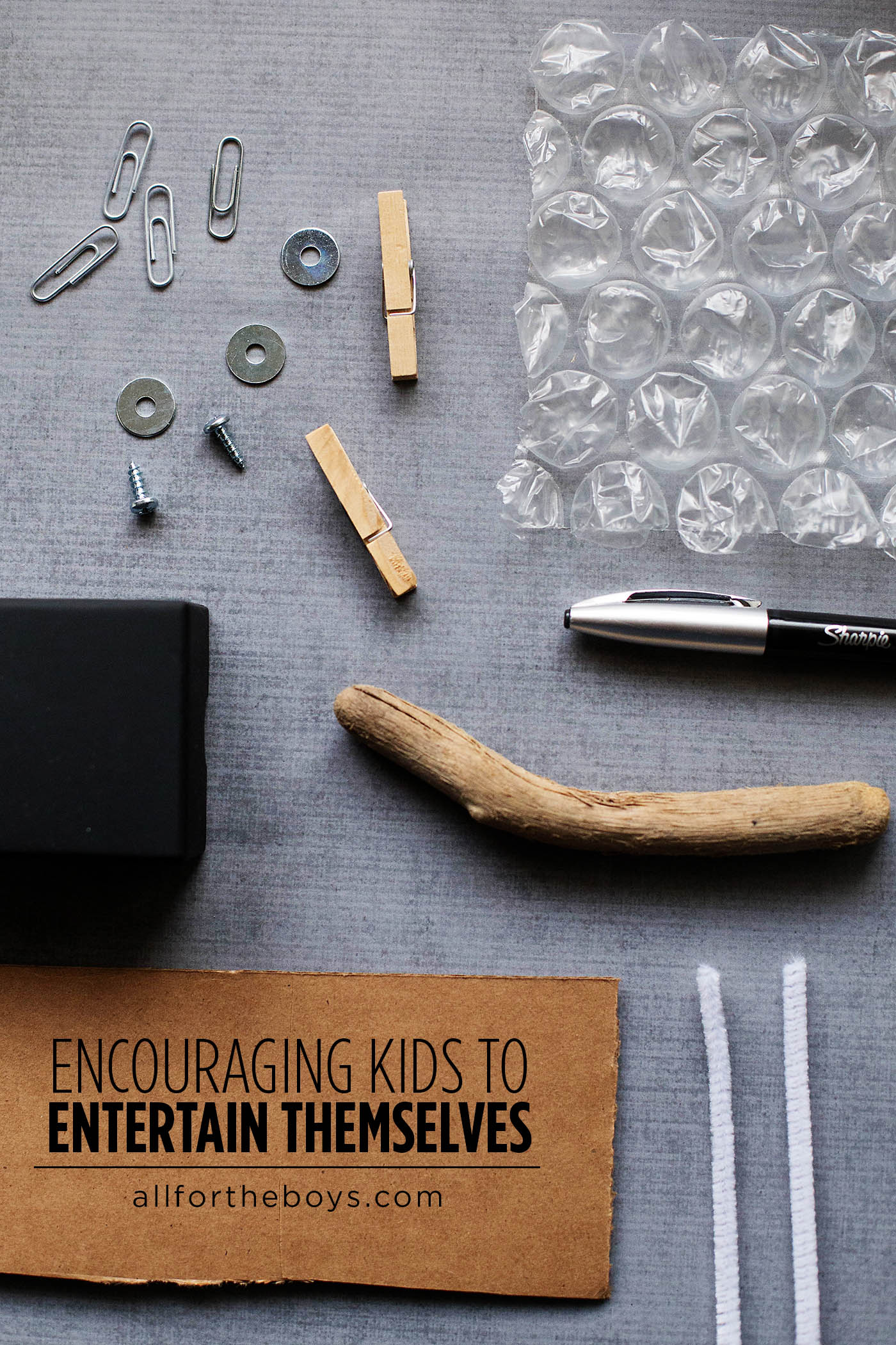 Encouraging kids to entertain themselves