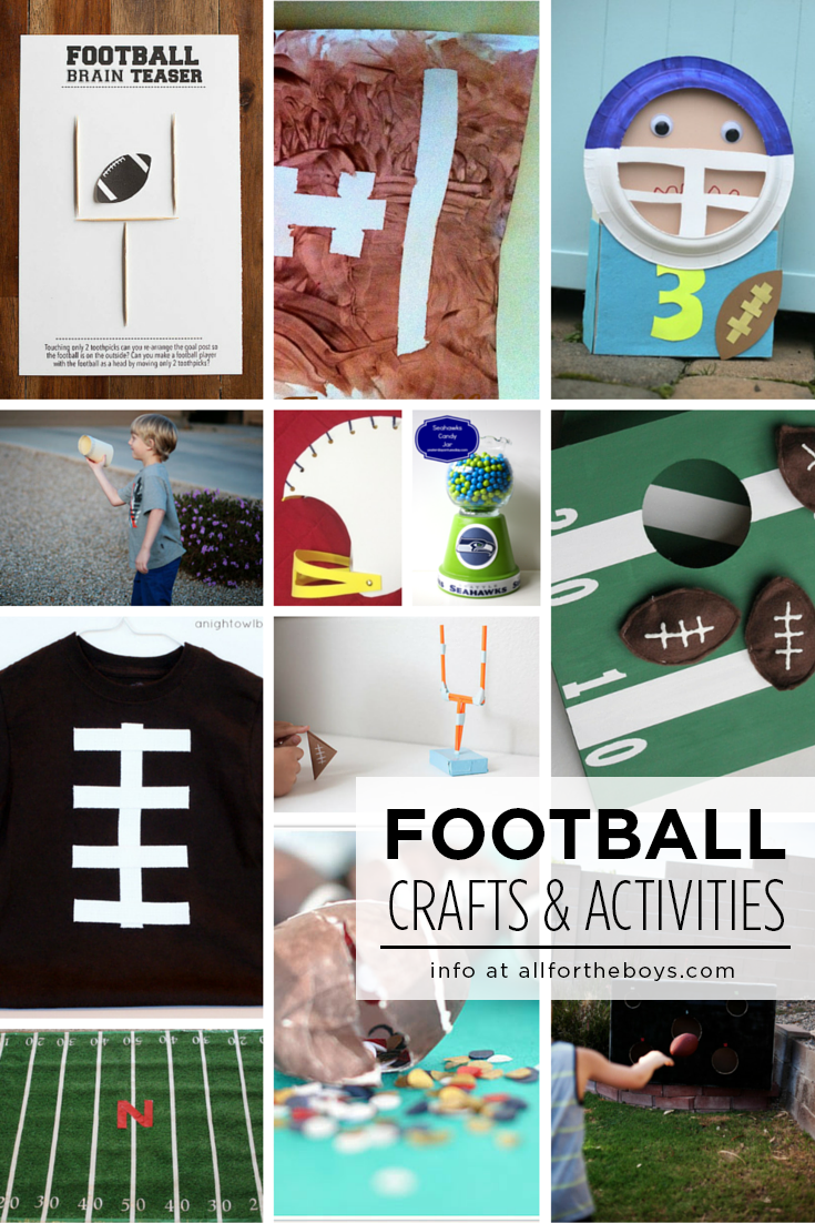 Football crafts & activities for kids!