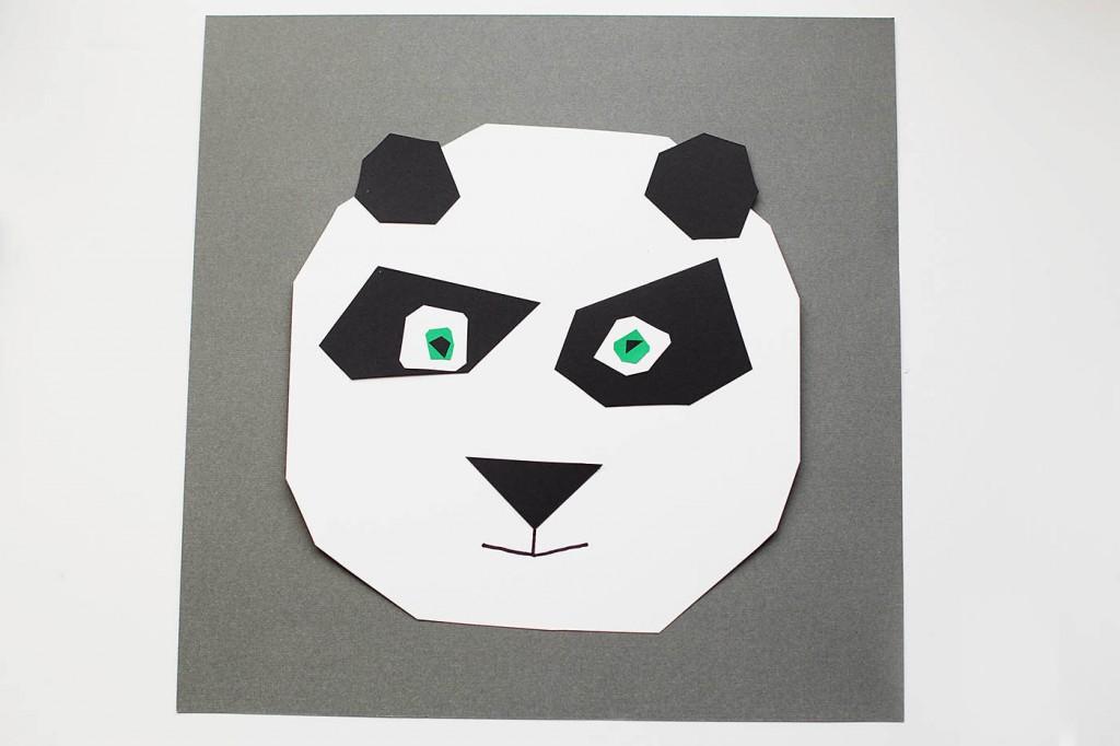 Geometric Panda Art + Kung Fu Panda 1 & 2 DVD Sweepstakes