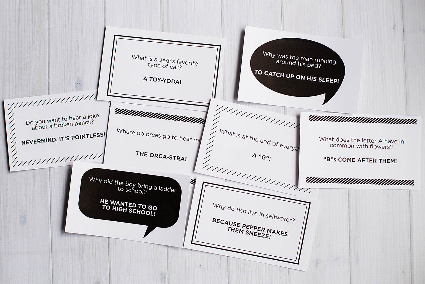 Free printable lunchbox jokes - leave a note on the back or just throw it in as is. Great idea and so easy!