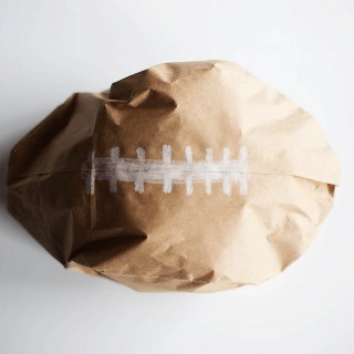 DIY Paper Bag Football Craft