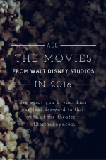 All the Movies from Walt Disney Studios for 2016