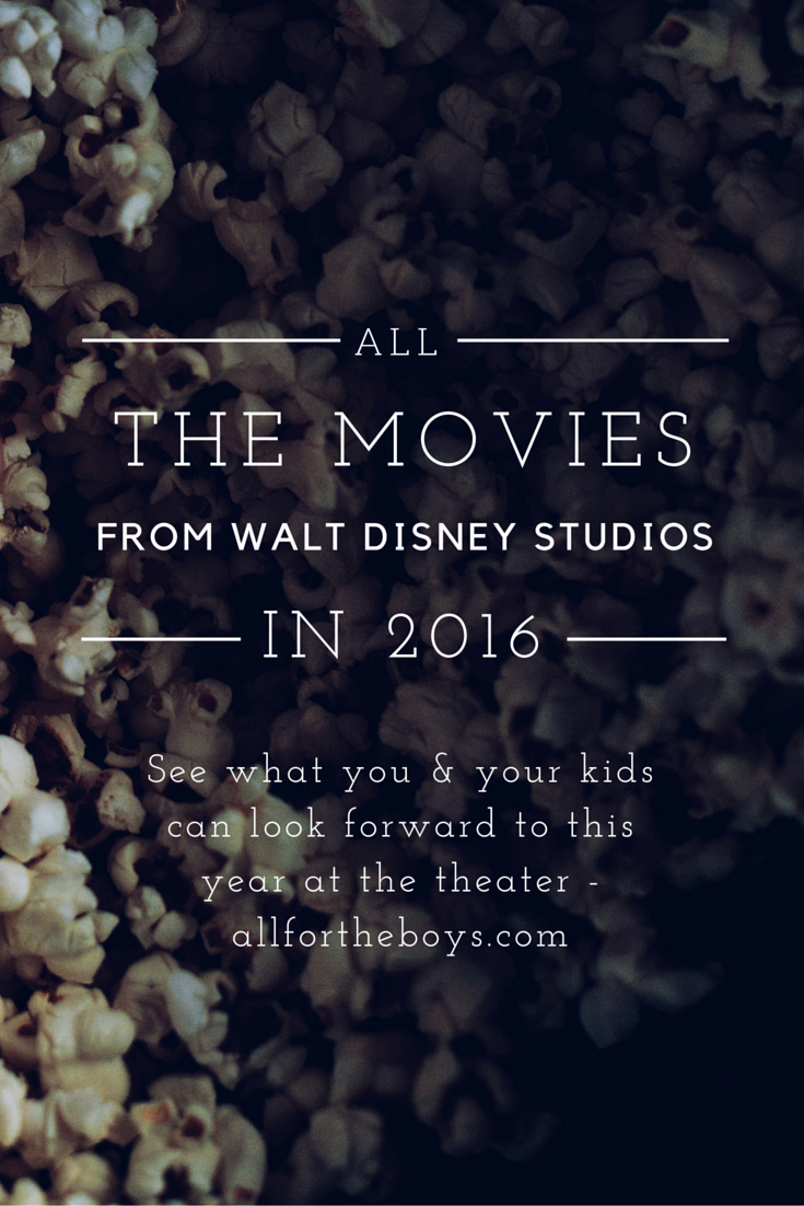 All the movies from Walt Disney Studios Motion Pictures to look forward to in 2016