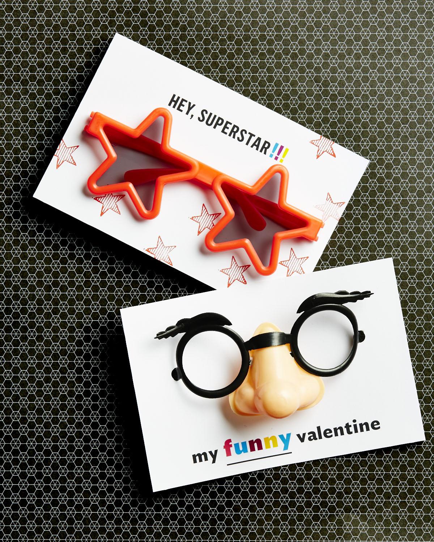 Fun glasses Valentine printable