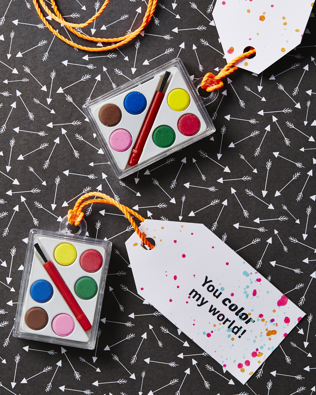 Paint pallets Valentine printable