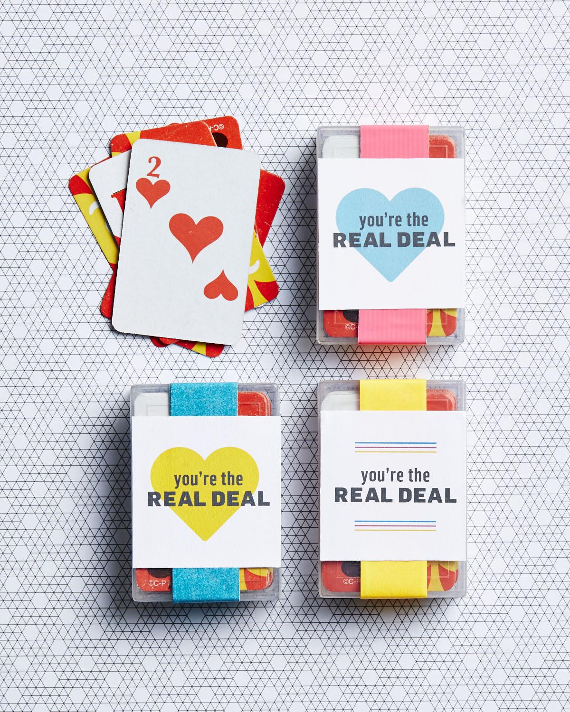 Playing card Valentine printable