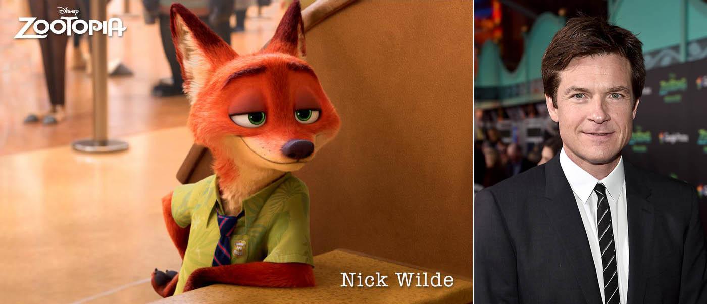 Nick Wilde and Jason Bateman photos from Disney
