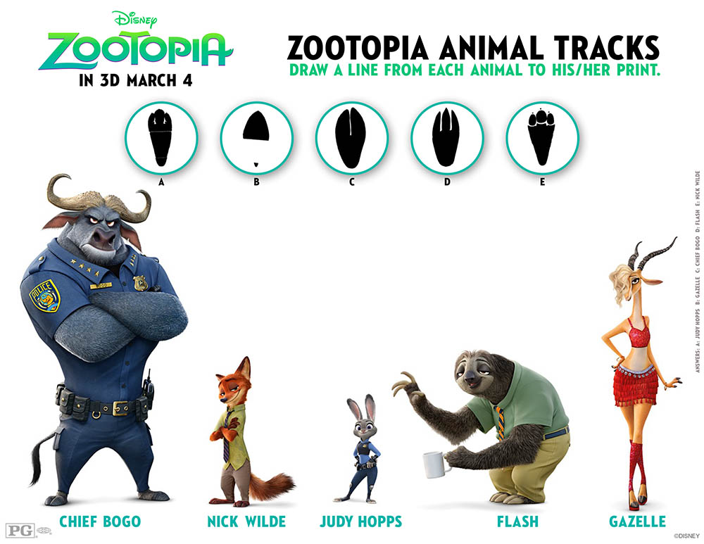 Zootopia activity and coloring pages