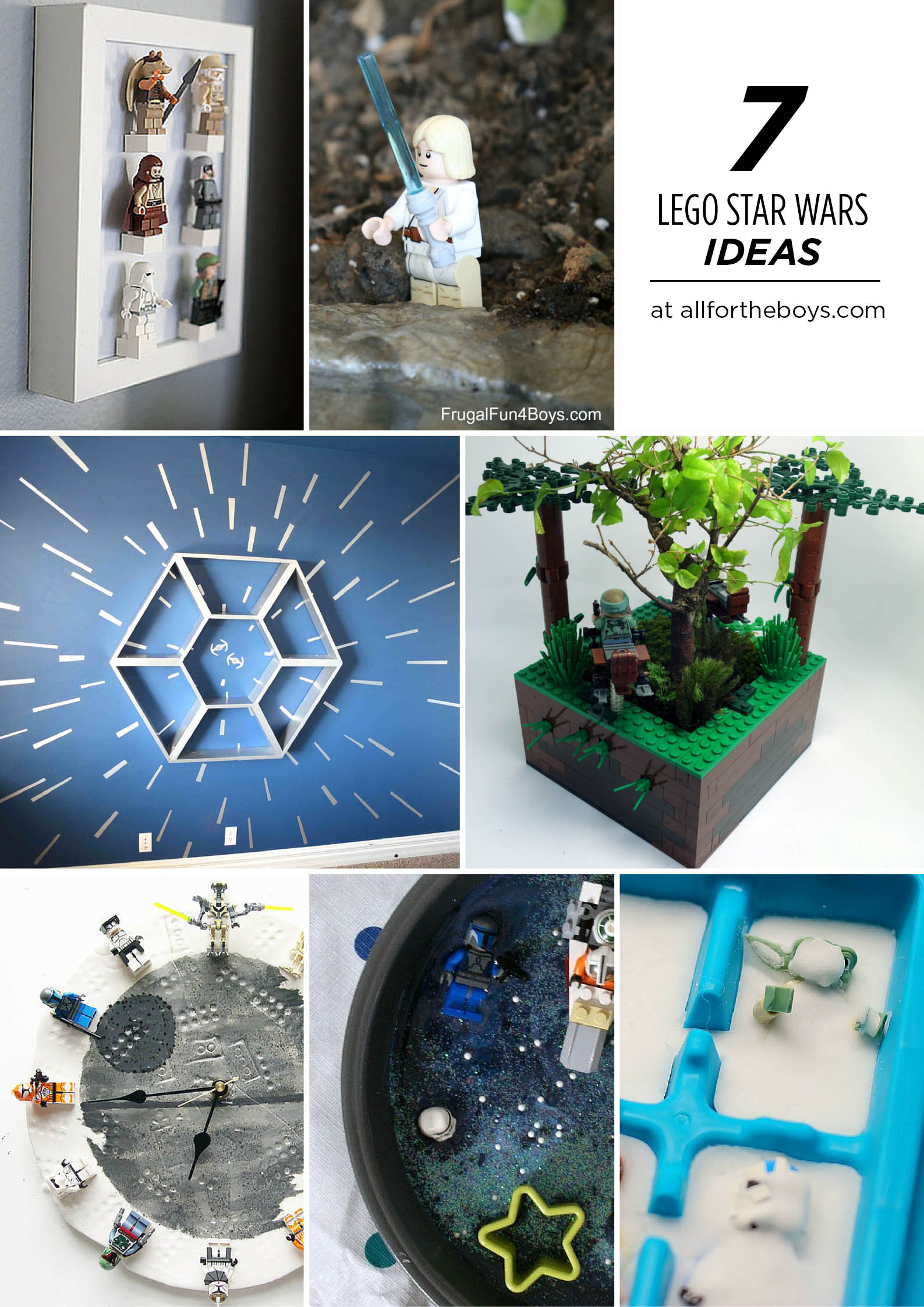 7 LEGO Star Wars activity and display ideas