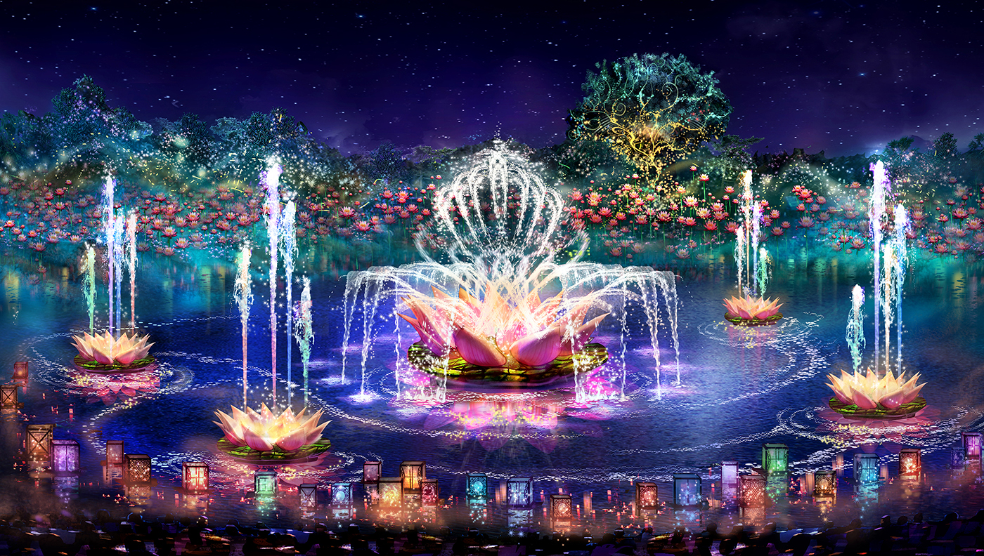 "Expected to open spring 2016, ""Rivers of Light"" will be an innovative experience unlike anything ever seen in a Disney park, combining live performances, floating lanterns, water screens and swirling animal imagery. ""Rivers of Light"" will come to life as a pair of mystical hosts comes to Discovery River bearing gifts of light. During the show, the hosts set out from the shore on elaborate lantern vessels for a dance of water and light to summon the animal spirits. (Disney Parks)"