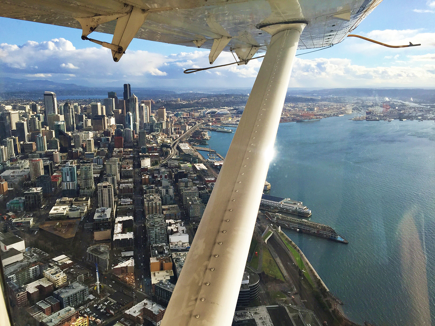 Seaplane view with Kenmore Air