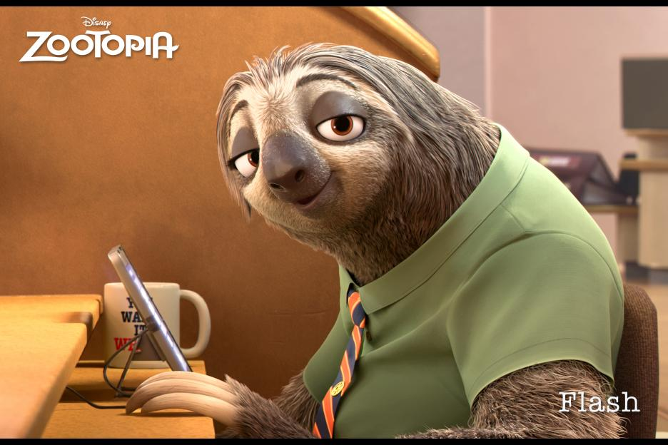 Flash - sloth from Zootopia!