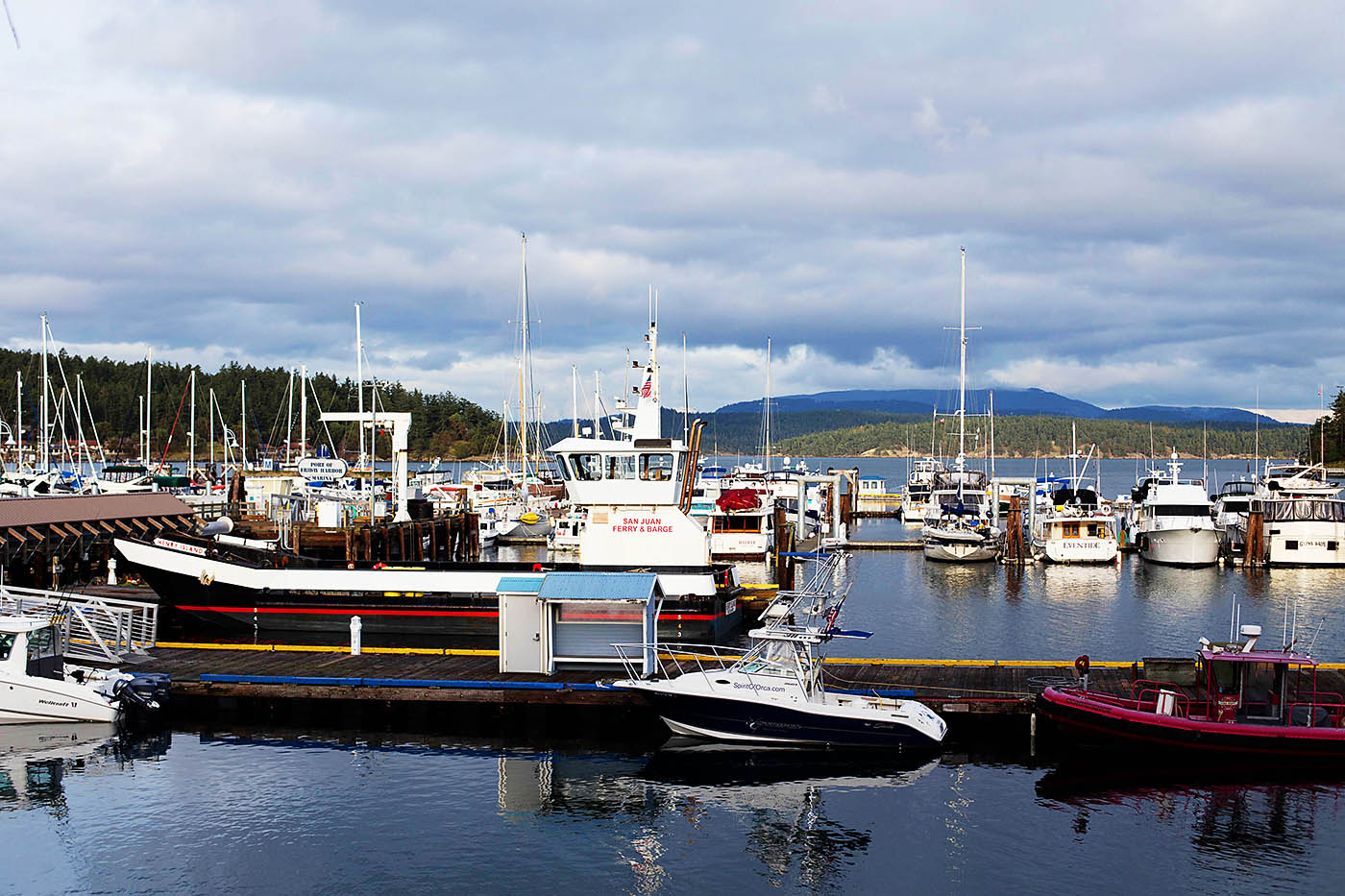 Friday Harbor on San Juan Island